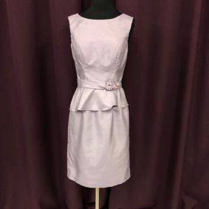 White By Vera Wang Broach Belt Purple Dress